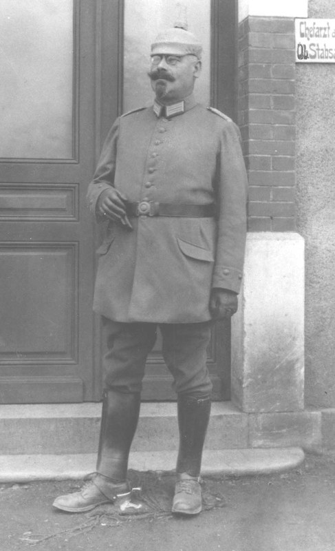 Julius Kohn (Herbert's grandfather) in his military uniform from World War I, ca 1918.